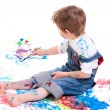 Royalty-Free Stock Photo: Boy painting
