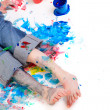 Boy painting — Foto Stock