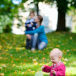 Family outdoors — Stockfoto