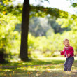Baby girl in park — Stock Photo #3725025