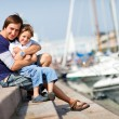 Father and son enjoying summer day — Stock Photo