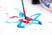 Jongen schilderij — Stockfoto