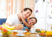 Family breakfast — Foto Stock