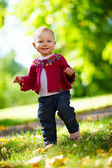 Baby girl walking — Stock Photo