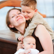 Mother and kids loving moment — Stock Photo #3769767
