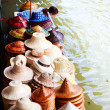 Floating market scene — Stock Photo