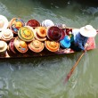 Stock Photo: Vendor on floating market in Thailand