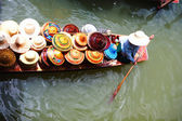 Vendor on floating market in Thailand — Stock Photo