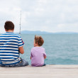 Father and son fishing together — Stock Photo #3770213