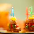 Party snacks — Stock Photo