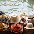 Many hats for sale — Stock Photo