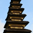 Closeup of Balinese temple roof - Stock Photo