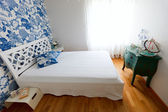 Beautifully decorated bedroom — Stock Photo
