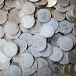 Collection of old coins - Stock Photo