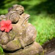 Balinese style frog sculpture — Stock Photo
