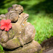 Stock Photo: Balinese style frog sculpture