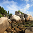 Rocky coast in Indonesia — Stock Photo