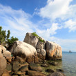 Rocky coast in Indonesia - Stock Photo