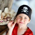 Portrait of playful pirate boy — Stock Photo