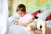 Portrait of 5 years old boy at home — Stock Photo