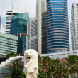 Merlion the symbol of Singapore - Zdjęcie stockowe