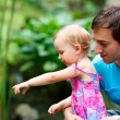 Father and daughter outdoors — Stock Photo