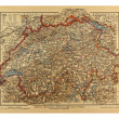Vintage Switzerland Map from 1900 — Stock Photo