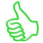 3D Thumbs Up — Stock Photo #3377190