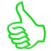 3D Thumbs Up — Stock Photo