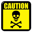 Stock Photo: Caution Death