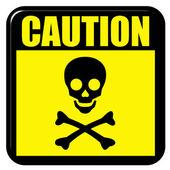 Vorsicht Tod — Stockfoto