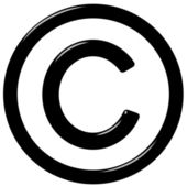 3D-copyright-symbool — Stockfoto