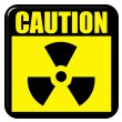 3D Caution Radioactive Sign — Stock Photo