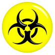 Stock Photo: 3D Biohazard Sign