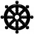 Stock Photo: 3D Buddhism Symbol Wheel of Dharma