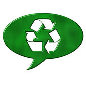 Recycling Speech Bubble Sign — Stock Photo