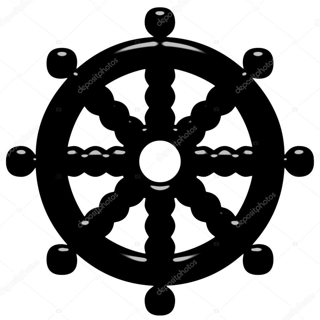 3d rad der buddhismus symbol des dharma stockfoto georgios 3517957. Black Bedroom Furniture Sets. Home Design Ideas