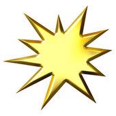 3D Golden Starburst — Stock Photo