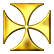 Stock Photo: 3D Golden German Cross