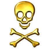 3D Golden Crossbones — Stock Photo
