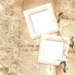 Old frame on victorian background — Stock Photo