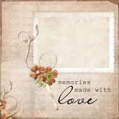 Vintage background with frames — Stock Photo