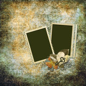 Vintage background with old frame — Stockfoto
