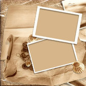 Vintage background with old frame — Stock Photo