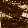 Vintage filmstrips background with space for your text and image. - Stok fotoğraf