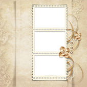 Old stamp-frame on victorian background — Stock Photo