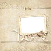 Beauty frame on elegant vintage background — Stock Photo