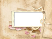 Vintage background with stamp-frames — Stock Photo