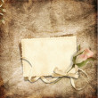 Beautiful card for congratulations or invitation on the vintage background — Foto Stock
