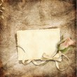 Beautiful card for congratulations or invitation on the vintage background — ストック写真